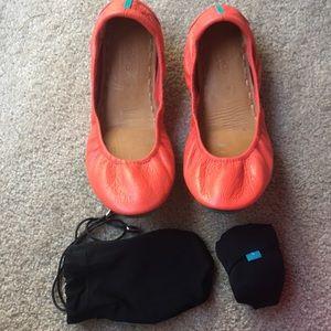 Tieks Poppy Leather Ballet Flats size 9 EUC RARE